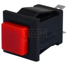 Квадратна Кнопка PBS-15C без фіксації ON-(OFF) , 2pin, 1А, 250V, червона