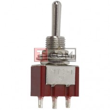 Тумблер MTS-123 (ON)-OFF-(ON) , 3pin, 3A, 250VAC