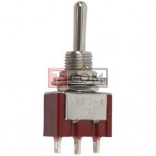 Так выглядит Тумблер MTS-123 (ON)-OFF-(ON)  , 3pin, 3A, 250VAC   по низкой цене.