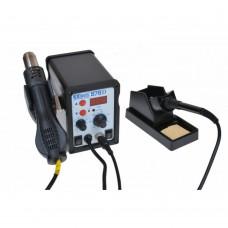 Digital soldering station with a Hairdryer EXtools (HandsKit) 878D