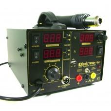 Digital soldering station with a Hairdryer EXtools (HandsKit) 909D