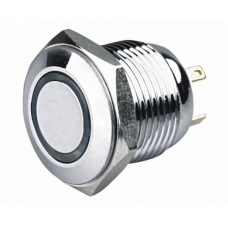 16mm anti-vandal button , non-locking, 4pin, 12V, illuminated