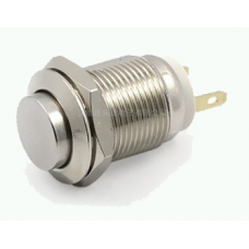12mm anti-vandal button , non-latching, 220V, solder pin