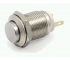 Кнопка антивандальна 12мм , без фіксації, 220V, виводи під пайку
