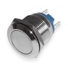 Кнопка антивандальная 16мм  , без фиксации, 220V, выводы под пайку