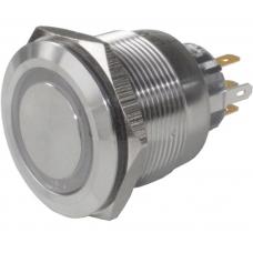 Кнопка антивандальна 25мм , без фіксації, 5pin, 12V, з підсвічуванням
