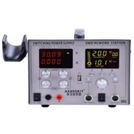 Rework station 4in1 HandsKit 9305D (soldering iron+Hairdryer+laboratory unit+USB), 4 display