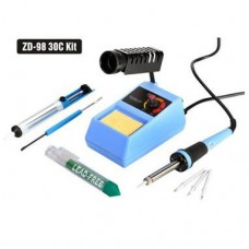 The set of ZD-9830C (soldering station ZD-98+desoldering pump+solder+soldering tips)