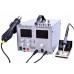 Comparison Rework station 4in1 HandsKit 9305D (soldering iron+Hairdryer+laboratory unit+USB), 4 display  foto 1