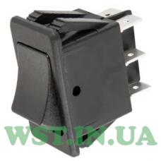 Перемикач ASW-17-202 ON-ON, 6 pin, 12V, 35А, чорний