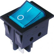 The illuminated switch IRS-201-3C3 ON-OFF , 4pin, 12V, 35A, blue