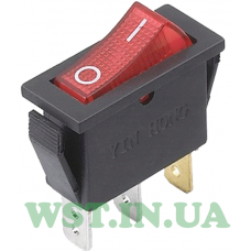 Switch with illuminated narrow IRS-101-1C (ON-OFF) , 3pin, 15A, red