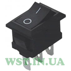 Switch MRS-102A (ON-ON) 3pin 6A, black