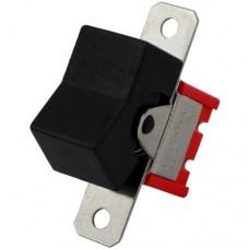 The key switch RLS-202-A1 (ON-ON) , 6pin, 3A, 250VAC, black