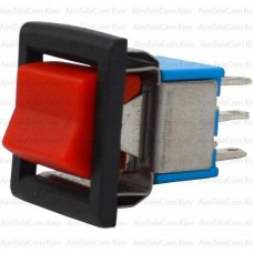 The key switch RLS-202-E5 (ON-ON) , 6pin, 3A, 250VAC, red