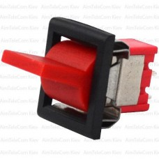The key switch RLS-103-F1 (ON-OFF-ON) , 3pin, 3A, 250VAC, red