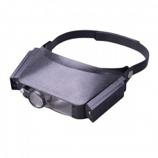 Binocular headband magnifier with lighting MG81007, 1.5 X, 3X, 6.5 X, 8X binocular