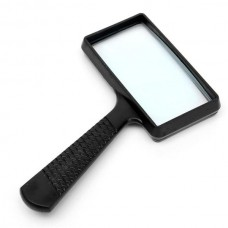 Zhongdi rectangular hand magnifier, with LED backlight, 2X, size 100х50мм manual